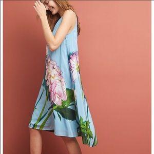 Anthropologie photorealistic silk dress 👗